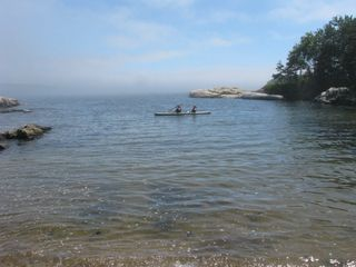Phippsburg house photo - Having fun with one of the tandem kayaks