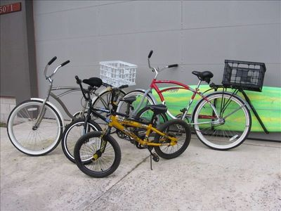Bike rental package available. Bike to town or beach.   Racks and baskets a must