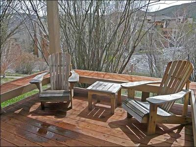 Sun Valley condo rental - Private Deck