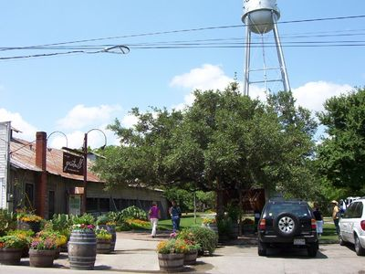 Downtown Gruene (Gruene Hall left & Grist Mill)