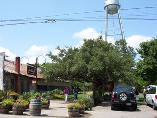 New Braunfels house photo - Downtown Gruene (Gruene Hall left & Grist Mill)