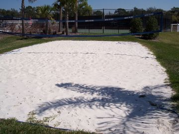 Community sand volleyball court