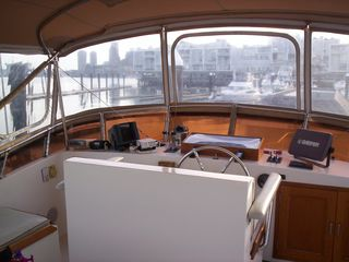 Boston yacht photo - Great city views from your enclosed sky bridge