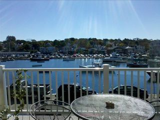Rockport condo photo - deck overlooking the harbor