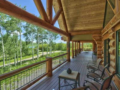 Large Vega Lake Colorado Luxury REAL LOG CABIN
