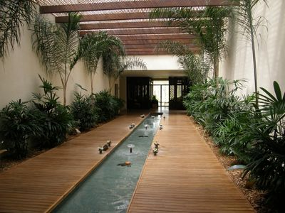 Tranquility inside the spa