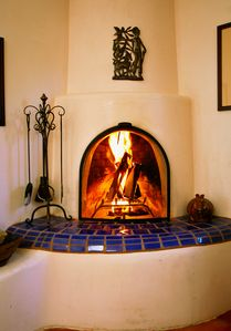 Santa Fe house rental - Cozy Kiva Fireplace