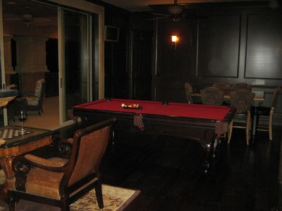 Billiards & Chess Overlooking Golf Course