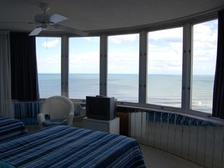 "Daytona Beach condo photo - Oceanfront 2nd BR w/1 Queen Bed & 1 Double Bed, 32"" Flat Screen replaced old TV"