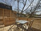 Private outdoor deck - perfect for drinking coffee/wine.