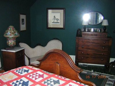 Upstairs Bedroom with Antique Furniture