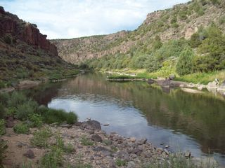 Taos house photo - View of Rio Grande Fishing Hole, Slightly Up-Stream from the Swimming Hole!