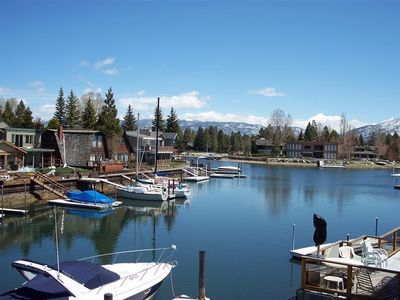 Tahoe Keys house rental - 270' Lake and Mountain View from 2 Levels