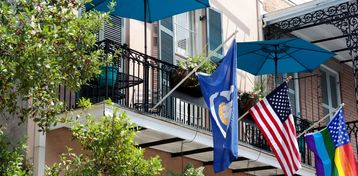 French Quarter condo rental - Our balcony June 2015