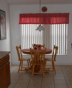 Breakfast nook for informal dining and family time