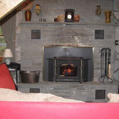 Margaretville cabin photo - Relax by the fire!