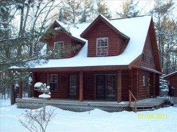 Warm and cozy in the wintertime and close to skiing, snowmobiling and snowtrails
