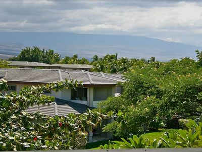 View of Mauna Kea from master bedroom lanai.