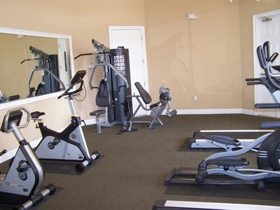 Cardio and weight gym for your use at the clubhouse!