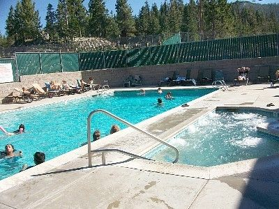 You have access to Tahoe Village Pool and hot tub...few blocks away.