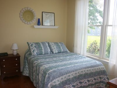 Mattapoisett house rental - 1st floor bedroom with private bathroom and waterviews.