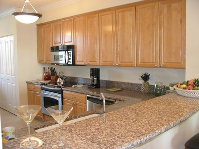 Spacious completely equipped gourmet kitchen with everything you may need.