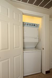 Brand New Washer & Dryer, Inside the unit.