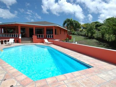Montserrat villa rental - Beautiful pool with plenty of space to relax