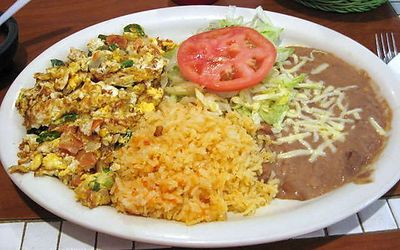 One of our breakfast options: Huevos a la Mexicana (Mexican Style Eggs)