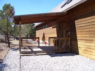 Salida house photo - Entrance porch and through to deck on walkway
