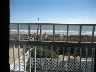 Surfside Beach condo photo - Balcony overlooking the ocean & pool area