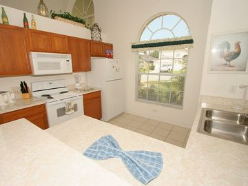 Fully equipped kitchen in Orlando rental house