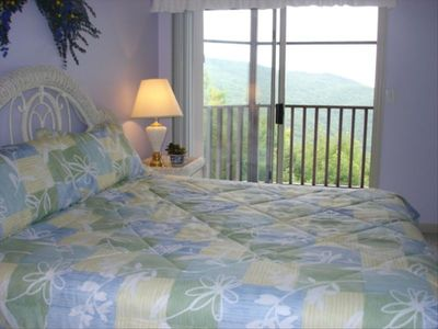 Master bedroom on main level, no stairs with beautiful view of mtns.