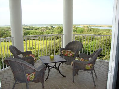 Ponce Inlet condo rental - Balcony off dining area