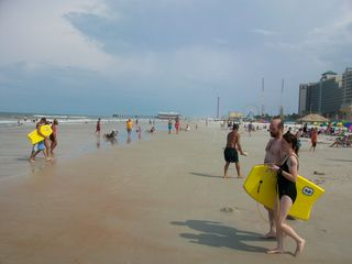 The most famous beach in the world looking South towards the pier! - Daytona Beach condo vacation rental photo