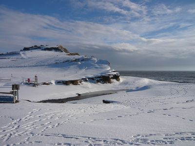 Seatown in snow