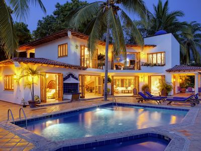 Puerto Vallarta villa rental - Villa Elnido in the evening - absolutely gorgeous!