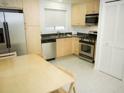 Eat in Kitchen with dishwasher and washer and dryer.