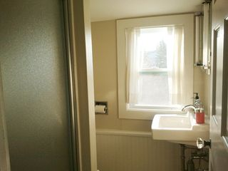 Port Clyde cottage photo - Freshly remodeled, even the bath upstairs has an ocean view.