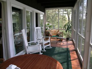 New Milford house photo - Enjoy the view of the lake from the screened in porch