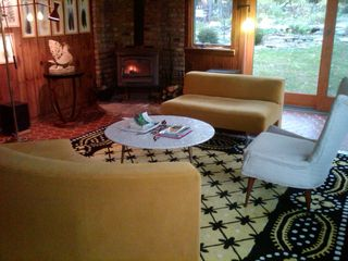 Patterson farmhouse photo - Living Room: Mid-Century Modern w/views of Magical Nature
