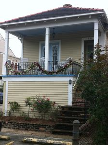 1 and 1/2 blocks from parade route, off-street parking, and next to Audubon park