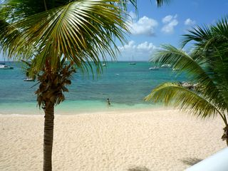 Marigot condo photo - A beach directly at your feet just under your terrace overlooking the sea.