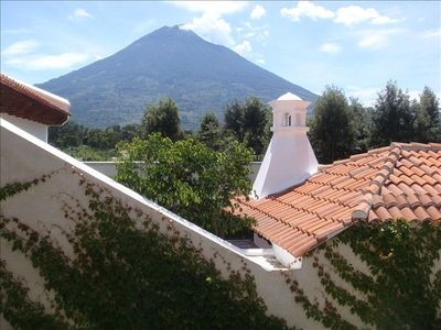 Antigua house rental - View from the balcony.