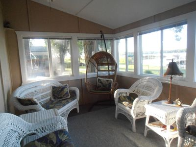 Try our swing chair, and experience the cool breezes in our sun porch.