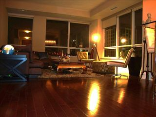 Toronto condo photo - Living Area In the Evening