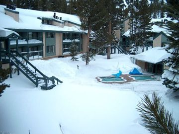Mammoth Lakes condo rental - 2 HUGE Jacuzzis/Hot Tubs, Beautiful Rec Room W/ Pool Table, Fireplace, Sauna