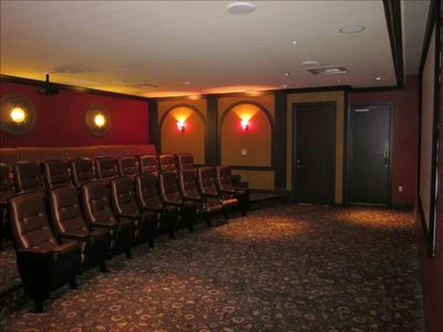 Large private movie theater is the perfect retreat!