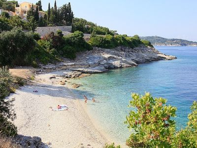 Villa Kalypso is just above a perfect beach