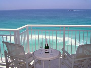Destin condo rental - Sip champagne and watch the dolphins play from the master bedroom balcony.
